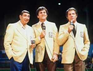Monday Night Football-Pic of Cosell, Meredith, and Gifford